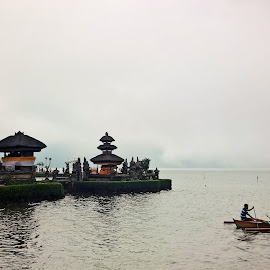 Temple and the Lake by Yoyo Indrajaya - Landscapes Travel ( lake temple )