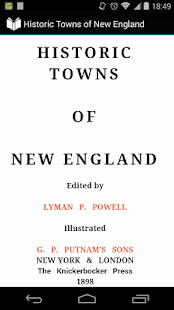 Historic Towns of New England - screenshot
