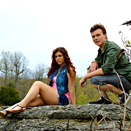To be young by Tiffani Conrad - People Couples ( girl, guy, rock, spring )
