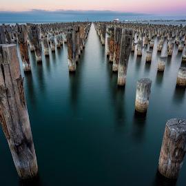 Princess Pier by John Williams - Buildings & Architecture Other Exteriors ( pier, docks, waterscape, australia, princess, melbourne )