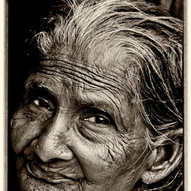 Mother by Prasanta Kumar Banerjee - Black & White Portraits & People (  )