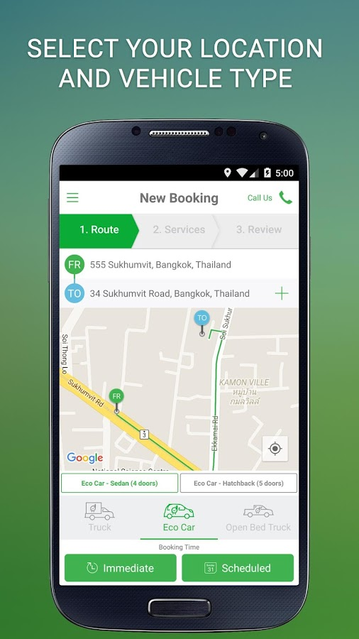 Deliveree - Delivery Services Screenshot 1