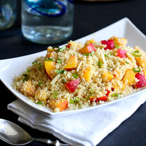 Couscous with Nectarines & Toasted Almonds