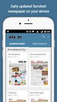 Screenshot of Sandesh Gujarati Newspaper