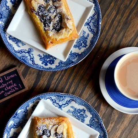 Almond Blueberry Cream Cheese Danish