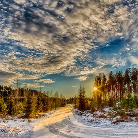 by Rose-marie Karlsen - Landscapes Sunsets & Sunrises ( clouds, winter, sunset )