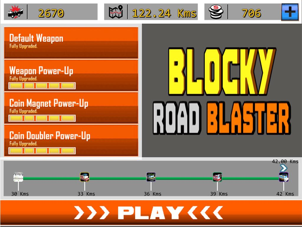 Blocky Road Blaster -Wild Race Screenshot 14