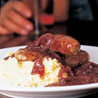 Bangers and Mash with Onion Gravy