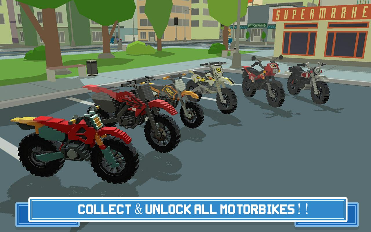 Moto Rider 3D: Blocky City 17 Screenshot 4