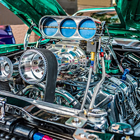 Power to spare by Jack Brittain - Transportation Automobiles ( car, ford torino, canada, engine, automobile, motor, chrome, kars on king, ontario, machine, oshawa )