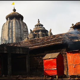 Ananta Vasudev Temple by Prasanta Das - Buildings & Architecture Other Exteriors ( temple, exteror, kitchen, wooden cabins, smoke )