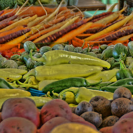 So Many Choices by Luanne Bullard Everden - Food & Drink Fruits & Vegetables ( farmers, market, potatoes, vegetables, carrots )
