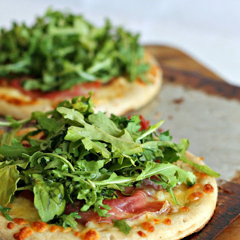 Arugula Flatbreads with Muenster Cheese