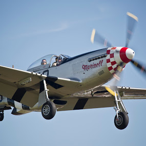 North American P-51D Mustang  414419 Janie (G-MSTG) by Peter Spowage - Transportation Airplanes ( p-51d mustang )