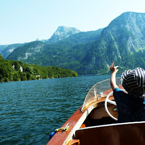 by Gabrielle Phillips - Babies & Children Children Candids ( boat ride, lake, hallstatt, boy, austria )