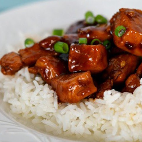 Chinese Bourbon Chicken and Rice