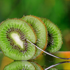 Kiwi forked#3 by Asif Bora - Food & Drink Fruits & Vegetables (  )