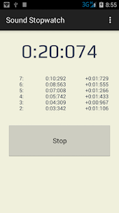 Sound Stopwatch - screenshot