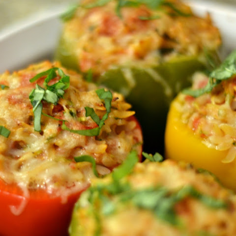 Quinoa Stuffed Red Bell Peppers