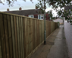 fencing for a house on main road in exeter, devon