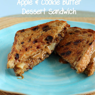Apple and Cookie Butter Dessert Sandwich