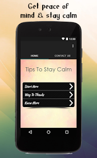 Tips To Stay Calm - screenshot