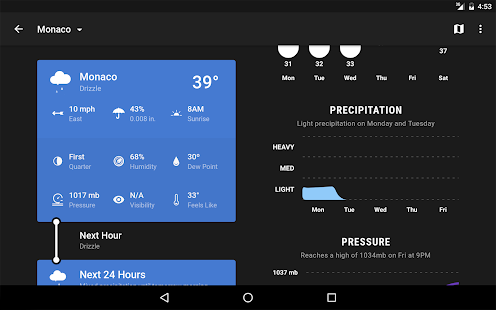 Weather Timeline - Forecast- screenshot thumbnail