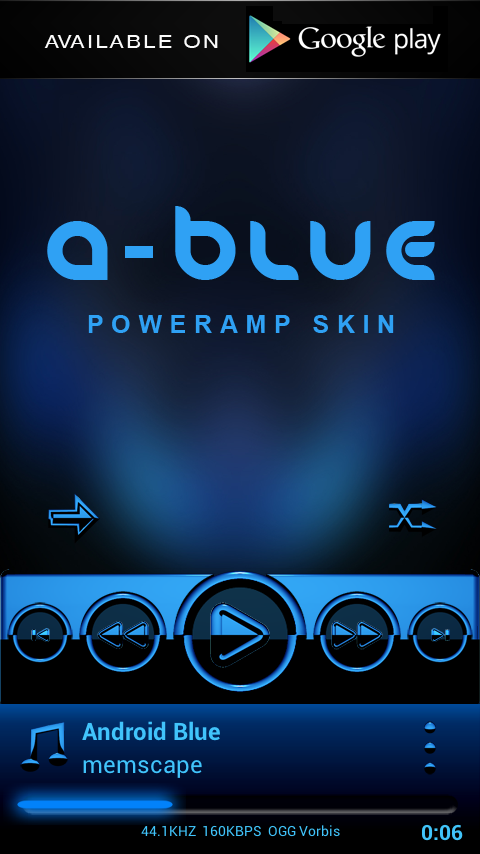 A-BLUE Next Launcher 3D Theme Screenshot 6