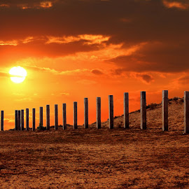 The Long Fence by Mrinmoy Ghosh - Buildings & Architecture Architectural Detail (  )