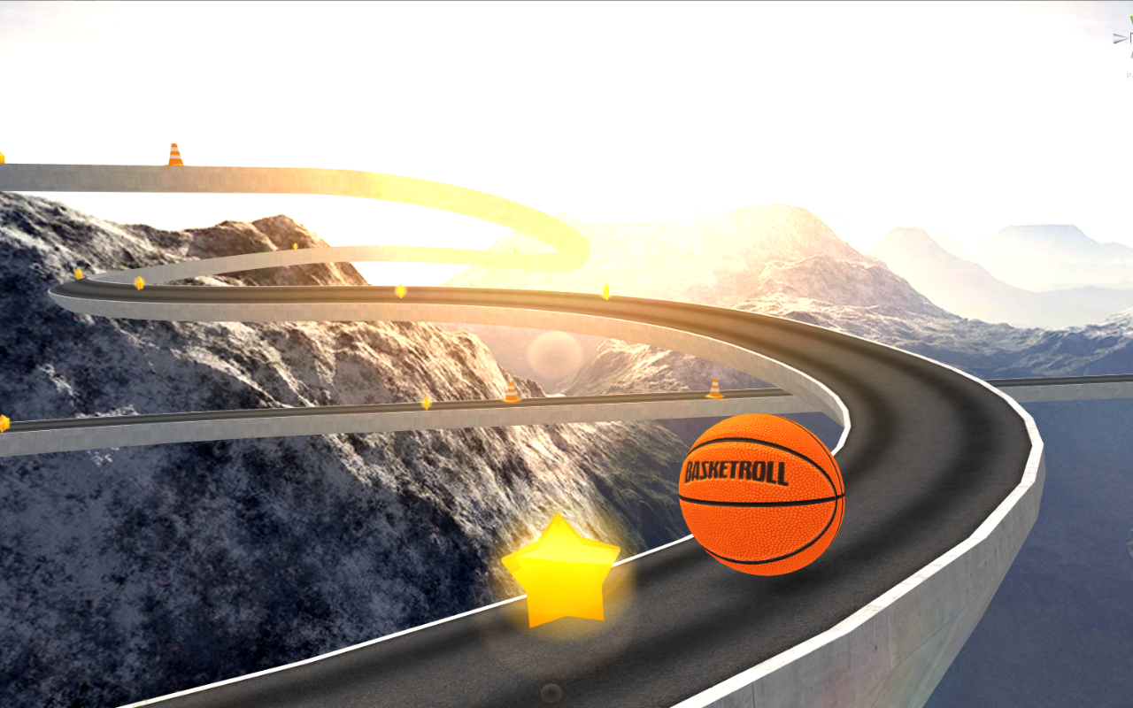 BasketRoll 3D: Rolling Ball Screenshot 1