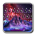 Galaxy Volcano Mountain Keyboard Theme