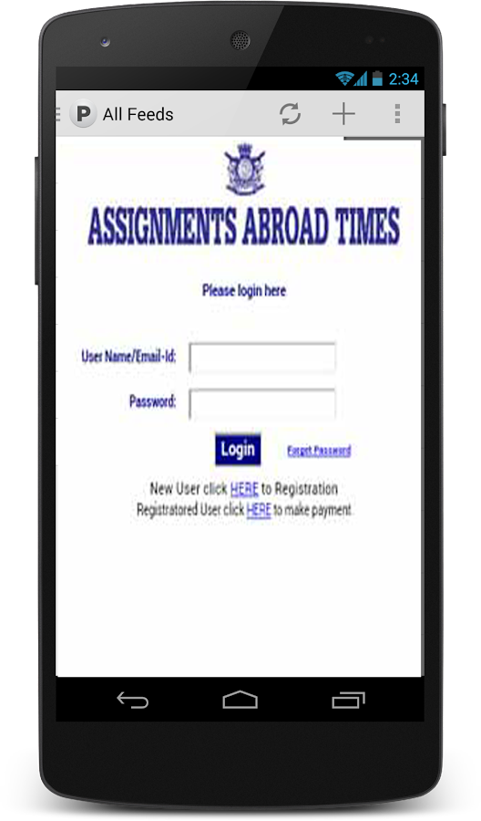 assignment abroad times