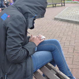 playing pokemon by Nick Parker - People Street & Candids ( phone, pokemon, people, mobile )