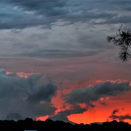Storm Clouds at Last Light. by Tim Hall - Landscapes Cloud Formations