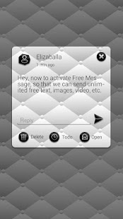 3 (FREE)GO SMS BLACK&WHITE THEME App screenshot