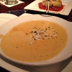 GF she-crab soup.