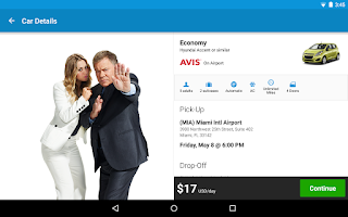 Screenshot of Priceline Hotels, Flight & Car