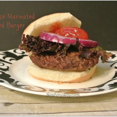 Soy Sauce Marinated Grilled Burgers