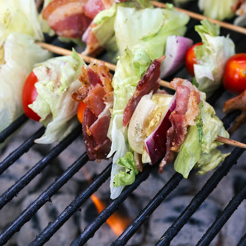 Grilled Wedge Salad Skewers