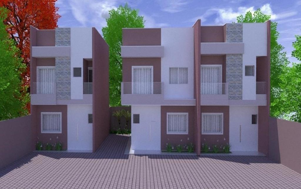 Sobrado com 3 dormitórios à venda, 75 m² por R$ 265.000 - Sítio Cercado - Curitiba/PR