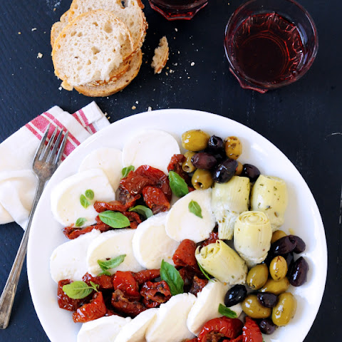 Roasted Tomato Caprese Antipasto