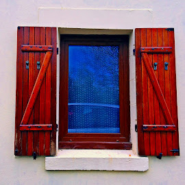 Window by Dobrin Anca - Buildings & Architecture Architectural Detail ( warm, wood, window, sunny, brittany )