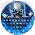 Blue Skull Keyboard Theme Icon