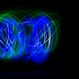 Alien Light by Bayden Ellison - Abstract Light Painting ( light painting, blue, green, circle, bayden b ellison studio )