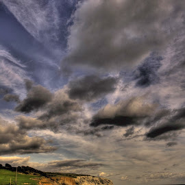 Stormy Culver by Kelly Murdoch - Landscapes Weather ( ztam photography, windy, cloudy, sea, culver, isle of wight, rough, storm, HDR, Landscapes, landscape, beach )