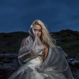Reflection by Lee Niven - Wedding Other ( model, wedding dress, kate, beach, cute, blonde, bridal, leeniven, woman, dress, wedding, dark, bride )