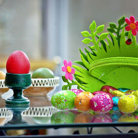 Eggs all around by Ciprian Apetrei - Public Holidays Easter ( eggs · easter · still life · decorations )