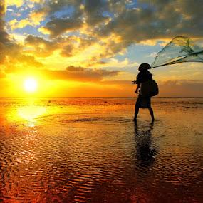 Testing the Net by Alit  Apriyana - Landscapes Sunsets & Sunrises