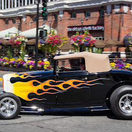 Hot Wheels by Drake Dyck - Transportation Automobiles ( deuce coupe, flames, wheels, flowers, ford, classic )