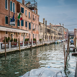 by Mario Horvat - City,  Street & Park  Street Scenes ( venezia, water, houses, sky, venice, sea, architecture )